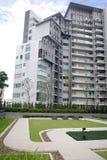 Park courtyard and metro condominium Stock Image