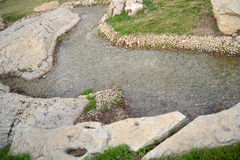 Park creek. Landscaping with artificial creek in the park Royalty Free Stock Photo