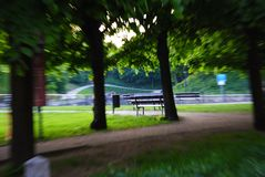Park in a crooked mirror royalty free stock images