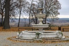 Park of culture and rest. Przemysl. Kaluga region royalty free stock photography