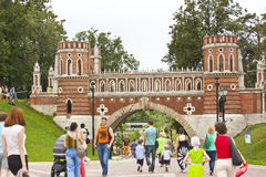 Park of Culture and Rest Tsaritsyno in Moscow Royalty Free Stock Images