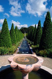 Park with cypresses. Wonderful mediterranean  park with fountains and cypresses in limburg,  netherlands Royalty Free Stock Image