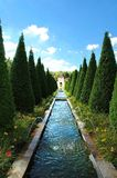 Park with cypresses. Wonderful mediterranean  park with fountains and cypresses in limburg,  netherlands Stock Photography