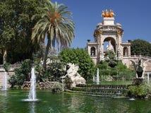 Park DE La Ciudadella stock afbeelding
