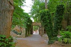 Park de la Devesa in Girona, Spain Stock Image