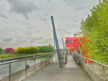 park de la villette,巴黎法国 免版税库存照片