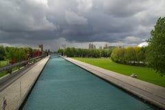 Park de la Villette Lizenzfreie Stockfotos