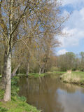 Park in de lente in Zwolle, Nederland Stock Foto's