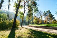Park in de ochtend Royalty-vrije Stock Afbeelding