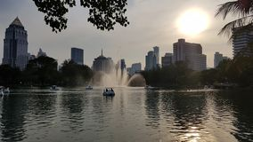 Park in de stad stock foto