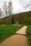 Park in de stad van Sigulda Royalty-vrije Stock Foto's