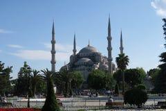 Park an der blauen Moschee - Sultan-Ahmet-Camii, in Istanbul, die Türkei Stockfotos