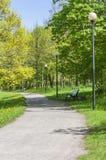 Park der Gasse im Frühjahr Stockfotos