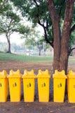 Park der Papierkörbe öffentlich Stockfotos