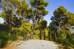 Park an der Spalte, Kroatien Stockfotografie