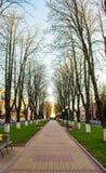 Park in der Stadt lizenzfreies stockbild