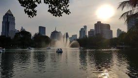 Park in der Stadt stockfoto