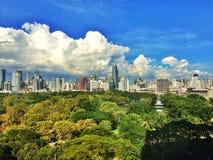 Park in der Stadt lizenzfreie stockfotos