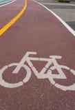 Park des Fahrradweg-Symbols öffentlich Lizenzfreie Stockfotos