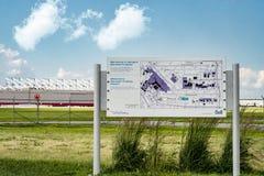 Park des Observatorium-Jacques-De-Lesseps Lizenzfreies Stockfoto