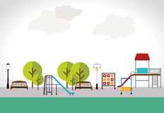 Park design over white background vector illustration Royalty Free Stock Image