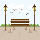 Park design, vector illustration. Stock Image