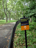 Park dichtbij de Hoogte van Brooklyn stock afbeelding