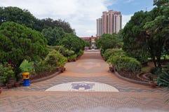 Park dichtbij Replica van het Paleis van Sultante van Melaka Royalty-vrije Stock Foto's