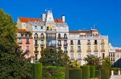 Park dichtbij Royal Palace - Madrid royalty-vrije stock foto's