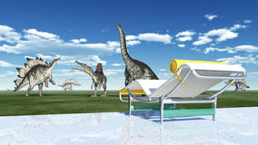 The park of the dinosaurs Royalty Free Stock Photography