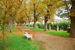 Park by the Dobris castle, Czech republic Stock Images