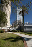 Park in Downtown Tampa Florida. Park in Downtown Tampa Bay Florida with Trees and Blue Sky Stock Images