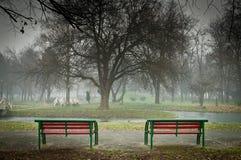 Park drama Stock Image