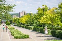 Park `Druzhba` Friendship on the Boulevard Komarova in Rostov-on-don Royalty Free Stock Photography