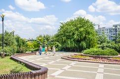 Park `Druzhba` Friendship on the Boulevard Komarova in Rostov-on-don Stock Photo