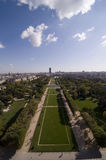 Park du Champs de mars. Portrait view with lots of copy space of Champs de mars from the Eiffel tower Royalty Free Stock Images
