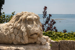 Park of Duino castle Royalty Free Stock Images