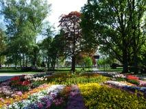 Park durch See Bodensee in der Stadt von Konstanz stockfoto