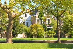Park in the Dutch city of Dordrecht. Royalty Free Stock Photography