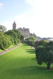Park in Edinburgh. Panoramic view of a park in Edinburgh downtown Stock Images