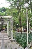 Park in einem Wohngebiet Taman Slamet Stockfoto