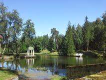 Park einer Villa Stockbild