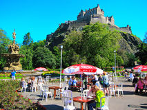 Park Eis creem Shops öffentlich in Edinburgh, Schottland Stockbild