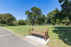 Park empty benches Stock Images