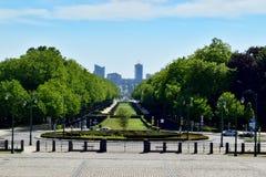 Park en commercieel centrum, Brussel Royalty-vrije Stock Afbeelding