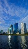 Park en Meer in Centrale Stad Royalty-vrije Stock Afbeeldingen