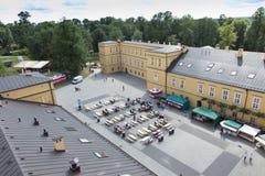 Park en paleis in KoszÄ™cin in Polen Royalty-vrije Stock Foto's