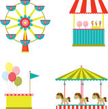 Park entertainment icons Stock Images