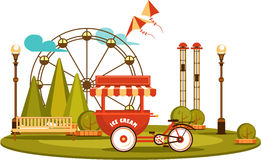 Park of entertainments Royalty Free Stock Images
