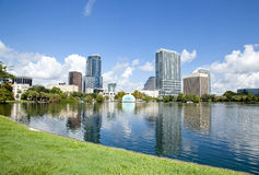 Park Eola and Orlando downtown. Royalty Free Stock Photo